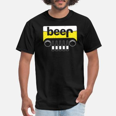 Beer Jeep - Beer t-shirt for real man - Men's T-Shirt