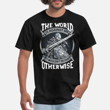Dark Souls Funny The dark souls - The world is against me - Men's T-Shirt
