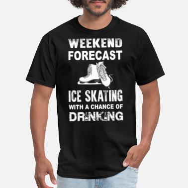 Nude Skating Weekend ice skating - With a chance of drinking - Men's T-Shirt