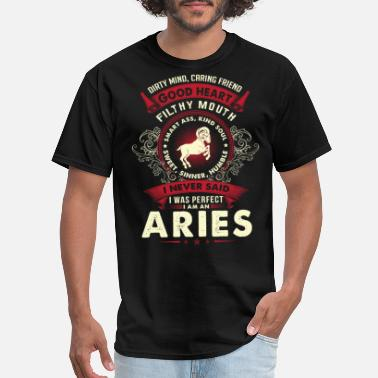 Vampire Diaries Stefan Aries - I never said I am a perfect aries t - sh - Men's T-Shirt