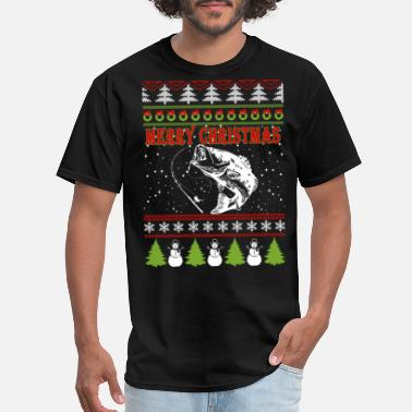 Fishermen Fisher Fisher - Ugly Christmas Sweater for fisher - Men's T-Shirt