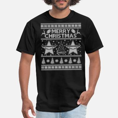 Jet Black Cowboy Bebop Ugly Christmas sweater North Queensland cowboys - Men's T-Shirt