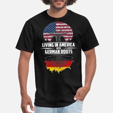 German Living in America with German roots - Men's T-Shirt