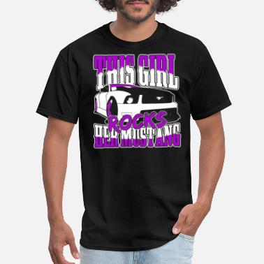 1968 Ford Mustang Fastback Mustang - This girl rocks her mustang - Men's T-Shirt