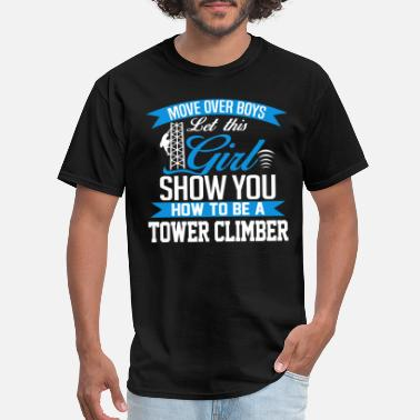 Boulder Baby Tower climber - Show you how to be a tower climb - Men's T-Shirt