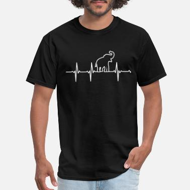 Babar Elephant lover - My heartbeat is you - Men's T-Shirt