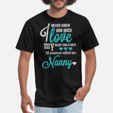 Mimi Breast Cancer Nanny - I never knew how much love my heart coul - Men's T-Shirt