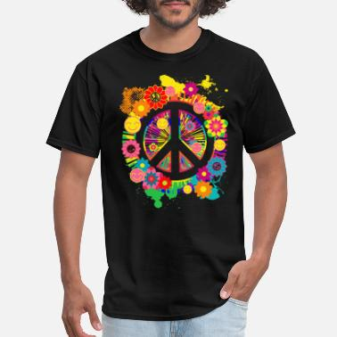 70s Peace Sign Hippie 70's Gift Item - Men's T-Shirt