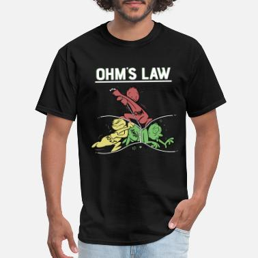 Ohms Ohms Law Funny Shirt.Electrical Electronics Engine - Men's T-Shirt