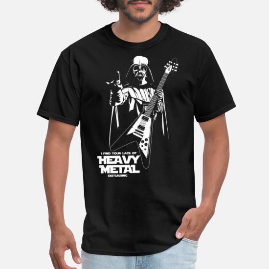 Star Wars Heavy Metal Darth Vader Men's T Shirt black