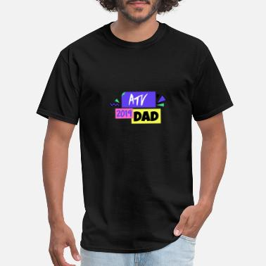 Motocross ATV Shirts Family ATV Dad 4 Wheeling Family Four - Men's T-Shirt