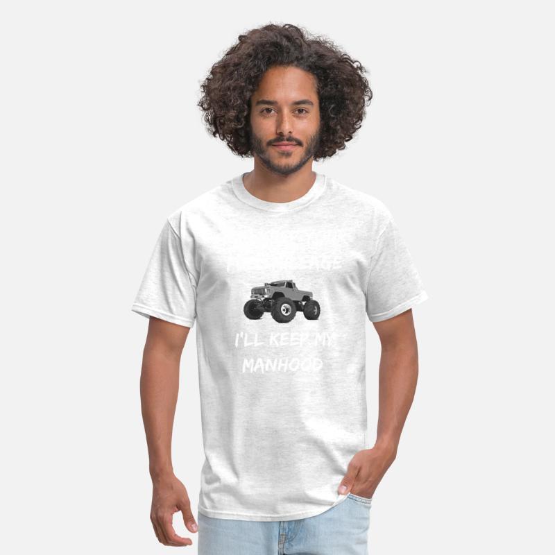 Truck Meme Shirt Keep My Manhood Diesel Truck Men's T-Shirt - light heather  grey