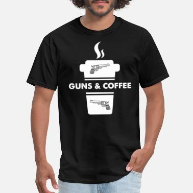 Gun Coffee Guns and coffee - Men's T-Shirt