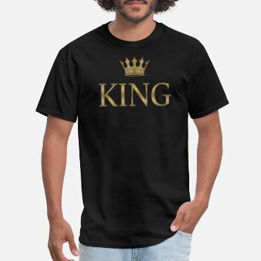 Golden King Birthday King Golden Crown - Men's T-Shirt