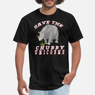 Kids Chubby unicorn rhino fantasy animal cute kids birthday gift - Men's T-Shirt