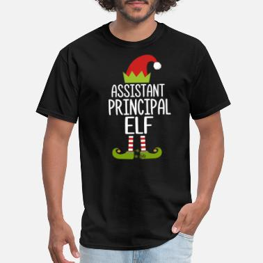 Principal Xmas Assistant Principal Elf Christmas Family Costume S - Men's T-Shirt
