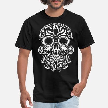Skeleton Sugar Skull - Men's T-Shirt