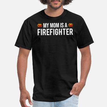 Firefighters Kids My Mom Is A Firefighter Firefighting Kid T-shirt - Men's T-Shirt