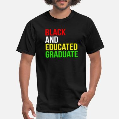 African American College Black Educated Graduation African American - Men's T-Shirt