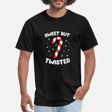 Twisted Christmas Candy Cane Sweet But Twisted Funny Chris - Men's T-Shirt