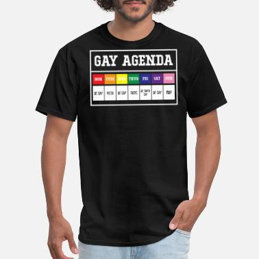 Drag Queen Funny Gay Agenda - Men's T-Shirt