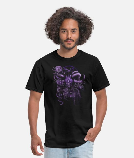 End Of The T-Shirts - Walking Faceless Gothic Skull Dead Zombie Warrior - Men's T-Shirt black