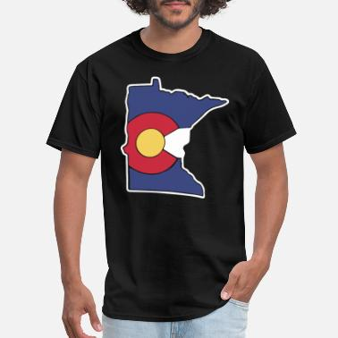 Feeling Minnesota Colorado Flag Minnesota State minnesota - Men's T-Shirt