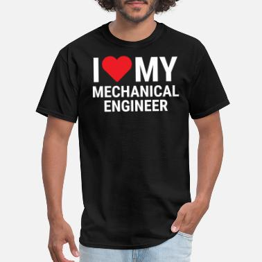 I Love My Boyfriend Mechanic I Love My Mechanical Engineer Couple Gift T-shirt - Men's T-Shirt