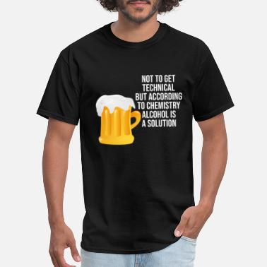 Solution Alcohol is a solution - Men's T-Shirt