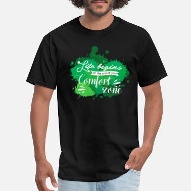 End Zone Life begins at the end of comfort zone - Men's T-Shirt