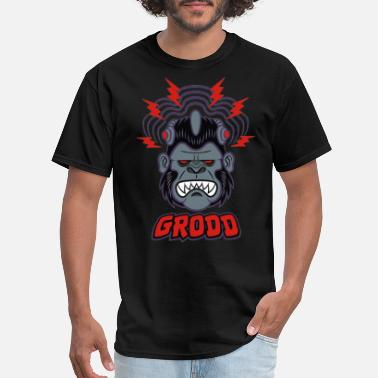Electronic Music grodd electro monkey - Men's T-Shirt