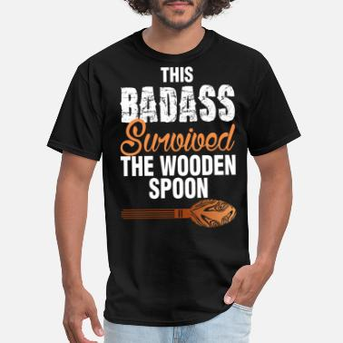 Spoon This Badass Survived The Wooden Spoon - Men's T-Shirt