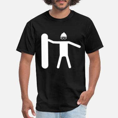 Ice Freestyle snowboarder boy Winter Skiing gift idea freestyle - Men's T-Shirt