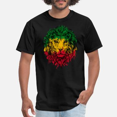 Rasta Lion Africa map rasta lion - Men's T-Shirt