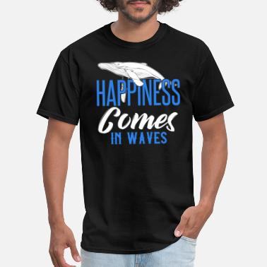 Greenpeace Save The Whales HAPPINESS COMES IN WAVES - Men's T-Shirt