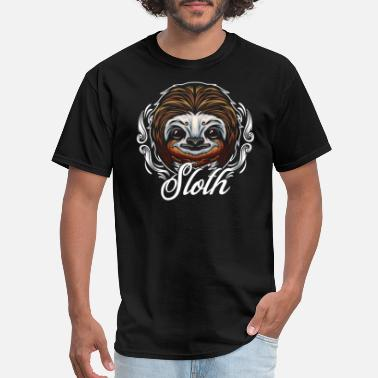Sloth Animal Sloths Face Sloth Animal - Men's T-Shirt