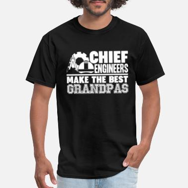 Grandpa Engineer Chief Engineer Grandpas Shirt - Men's T-Shirt