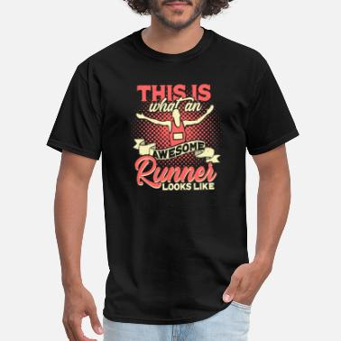 Triathlon Winner Marathon Runner Stages Running Race Winner Gift - Men's T-Shirt
