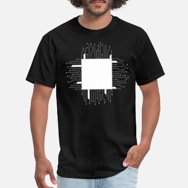 Wiring Diagram line lines circuit wire data microchip energy ener - Men's T-Shirt