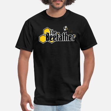 Honey The Beefather - Bee Honey Beekeeper Honeycombs - Men's T-Shirt