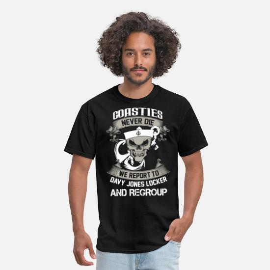 Coast T-Shirts - Coasties - Coasties - coasties never die - Men's T-Shirt black