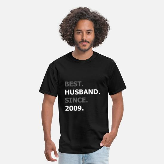 2009 T-Shirts - Best Husband Since 2009 - Men's T-Shirt black