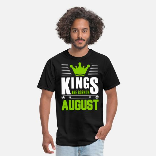 August T-Shirts - Kings Are Born In August - Men's T-Shirt black