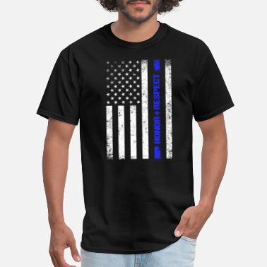 Respect The Police Honor Respect Police - Men's T-Shirt