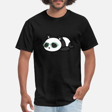 Panda Geek Cute Nerd Panda Bear With Geek Glasses Tshirt - Men's T-Shirt