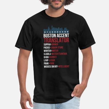 Wicked Awesome Boston Boston Accent Translator Tshirt For Wicked Smaht - Men's T-Shirt
