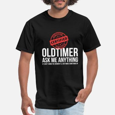 Old Timer Certified Old Timer Funny Alcoholics Anonymous AA - Men's T-Shirt