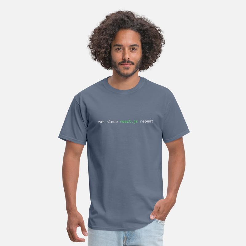 Eat Sleep React Js Repeat TShirt For Javascript Men's T-Shirt - denim