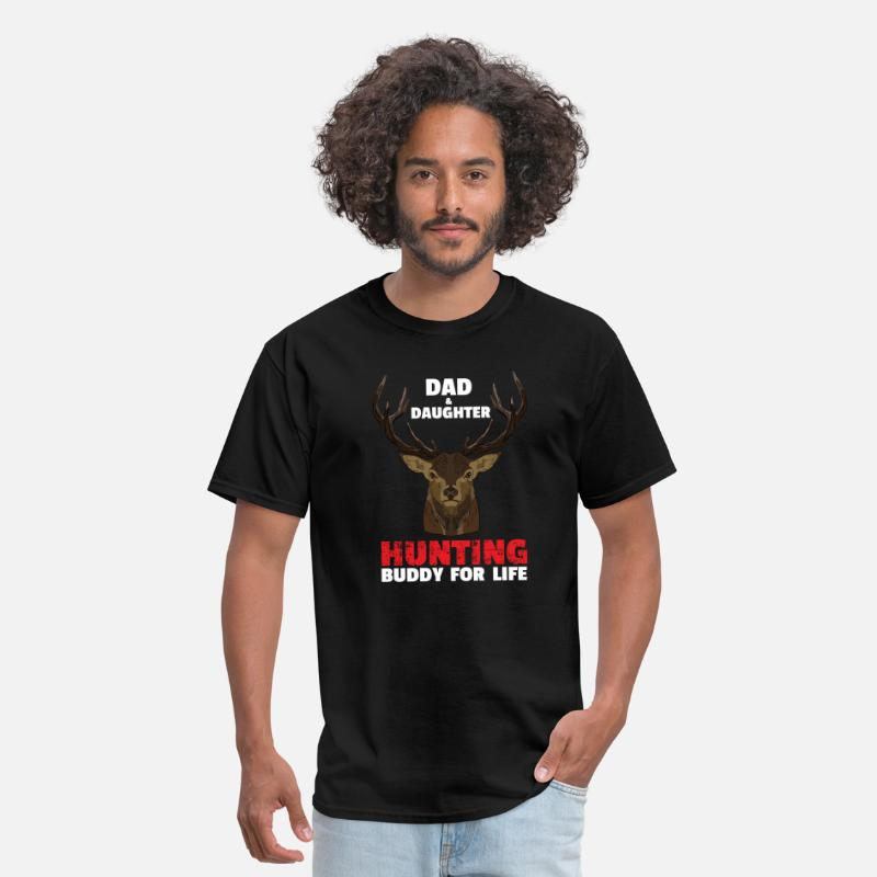 e8b6e515 Hunting T-Shirts - Dad & Daughter Hunting Buddy - Men's T-Shirt black