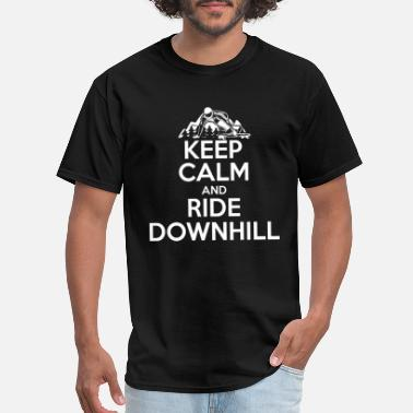 Street Surfer Keep Calm Downhill Longboard Gift Skater - Men's T-Shirt